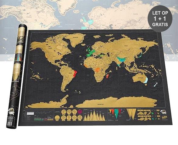 1+1 GRATIS Wereldkraskaart