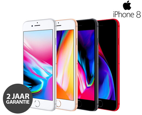Refurbished Apple iPhone 8 64GB met GRATIS Hoesje + Tempered Glass